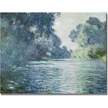 Trademark Global Claude Monet in.Branch of the Seine near Givernyin. Canvas Art, 18in. x 24in.