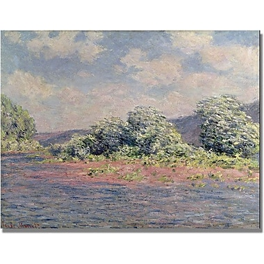Trademark Global Claude Monet in.The Seine at Port Villezin. Canvas Art, 35in. x 47in.