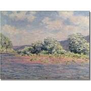 Trademark Global Claude Monet The Seine at Port Villez Canvas Art, 35 x 47