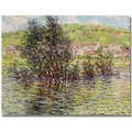 Trademark Global Claude Monet in.Vetheuil, View from Lavacourtin. Canvas Arts