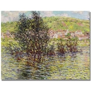 "Trademark Global Claude Monet ""Vetheuil, View from Lavacourt"" Canvas Art, 18"" x 24"""