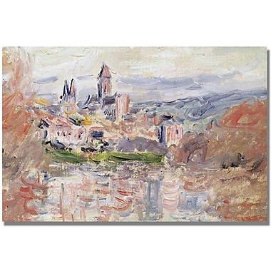 Trademark Global Claude Monet in.The Village of Vetheuilin. Canvas Art, 30in. x 47in.