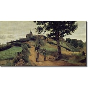"Trademark Global Jean Baptiste Corot ""Saint Adnre en Morvan"" Canvas Art, 24"" x 47"""