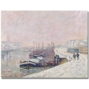 "Trademark Global Jean Baptiste Corot ""Snow in Rouen"" Canvas Art, 24"" x 32"""