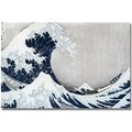 Trademark Global Kanagawa-Katsushika Hokusai in.The Great Wave IIin. Canvas Art, 30in. x 47in.