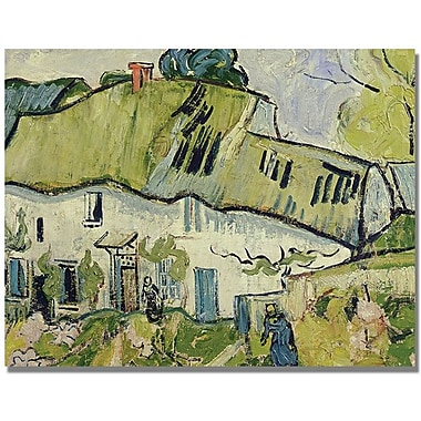 Trademark Global Vincent Van Gogh in.The Farm in Summerin. Canvas Arts