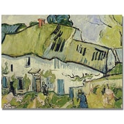 Trademark Global Vincent Van Gogh The Farm in Summer Canvas Art, 18 x 24