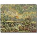 Trademark Global Vincent Van Gogh in.Autumn Landscapein. Canvas Art, 35in. x 47in.