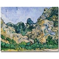 Trademark Global Vincent Van Gogh in.The Alpilles, 1889in. Canvas Art, 35in. x 47in.