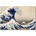Trademark Global Kanagawa-Katsushika Hokusai in.The Great Wave IIIin. Canvas Art, 16in. x 24in.