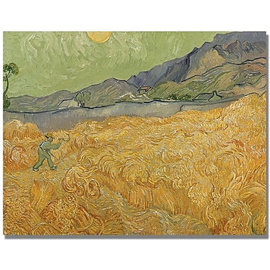Trademark Global Vincent Van Gogh in.Wheatfields with Reaperin. Canvas Arts