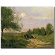 "Trademark Global Jean Baptiste Corot ""The Wagon Souvenir of Saintry"" Canvas Art, 18"" x 24"""