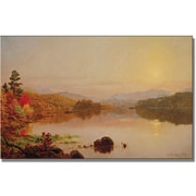 "Trademark Global Jasper Cropsey ""Lake Wawayanda"" Canvas Art, 24"" x 47"""