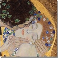 Trademark Global Gustav Klimt in.The Kissin. Canvas Art, 18in. x 18in.