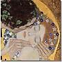 Trademark Global Gustav Klimt The Kiss Canvas Art,