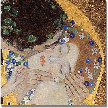 Trademark Global Gustav Klimt in.The Kissin. Canvas Art, 24in. x 24in.