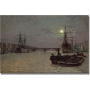"Trademark Global John Atkinson Grimshaw ""London Bridge, Half Tide"" Canvas Art, 16"" x 24"""