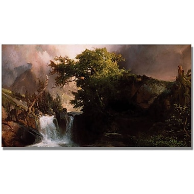 Trademark Global Thomas Moran in.A Mountain Streamin. Canvas Art, 24in. x 47in.