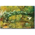 Trademark Global Claude Monet in.The Japanese Bridge c.1918 24in. Canvas Arts