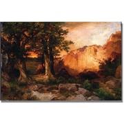 "Trademark Global Thomas Moran ""Western Sunset"" Canvas Art, 30"" x 47"""