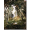 Trademark Global Thomas Moran in.Forest Glade Santa Barbarain. Canvas Arts