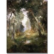 "Trademark Global Thomas Moran ""Forest Glade Santa Barbara"" Canvas Art, 47"" x 35"""