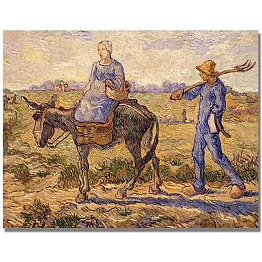 Trademark Global Vincent Van Gogh in.Morning Going out to Workin. Canvas Art, 24in. x 32in.