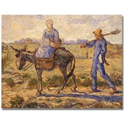 "Trademark Global Vincent Van Gogh ""Morning Going out to Work"" Canvas Art, 24"" x 32"""