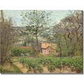 Trademark Global Camille Pissarro in.The Cottagein. Canvas Arts