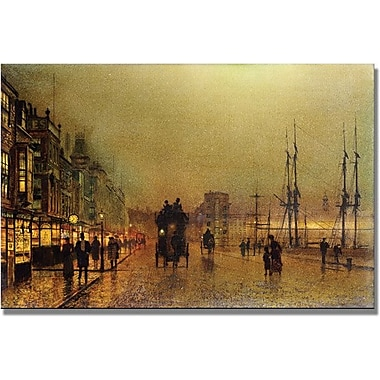 Trademark Global John Atkinson Grimshaw in.Glasgowin. Canvas Art, 16in. x 24in.