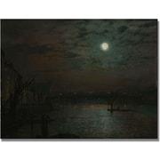 "Trademark Global John Atkinson Grimshaw ""Southwark Bridge by Moonlight"" Canvas Art, 18"" x 24"""