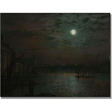 Trademark Global John Atkinson Grimshaw in.Southwark Bridge by Moonlightin. Canvas Art, 24in. x 32in.