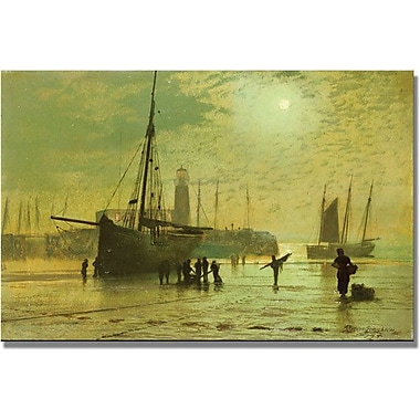Trademark Global John Atkinson Grimshaw in.The Lighthouse At Scarboroughin. Canvas Arts