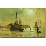 "Trademark Global John Atkinson Grimshaw ""The Lighthouse At Scarborough"" Canvas Art, 30"" x 47"""
