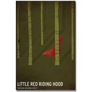 "Trademark Global Christian Jackson ""Red Riding Hood"" Canvas Art, 24"" x 16"""