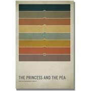 """Trademark Global Christian Jackson """"Princess and the Pea"""" Canvas Arts"""