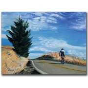 "Trademark Global Coleen Proppe ""Biker Ascending"" Canvas Art, 18"" x 24"""