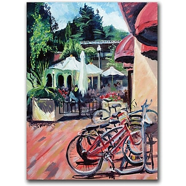 Trademark Global Coleen Proppe in.Bikers in Townin. Canvas Art, 24in. x 18in.