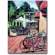 "Trademark Global Coleen Proppe ""Bikers in Town"" Canvas Art, 32"" x 24"""