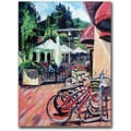 Trademark Global Coleen Proppe in.Bikers in Townin. Canvas Art, 47in. x 35in.