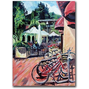 Trademark Global Coleen Proppe in.Bikers in Townin. Canvas Arts