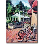 "Trademark Global Coleen Proppe ""Bikers in Town"" Canvas Arts"