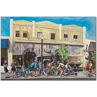 Trademark Global Colleen Proppe in.Cyclists at Roastersin. Canvas Art, 16in. x 24in.