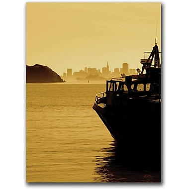 Trademark Global Colleen Proppe in.Ferry From Tiburonin. Canvas Art, 24in. x 18in.