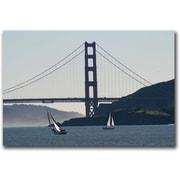 "Trademark Global Colleen Proppe ""Golden Gate Sailing"" Canvas Art, 16"" x 24"""