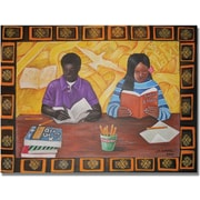 "Trademark Global Djibrirou Kane ""Budding Scholars"" Canvas Arts"
