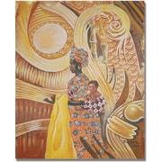 "Trademark Global Djibrirou Kane ""Caring and Dedicated Mom"" Canvas Arts"