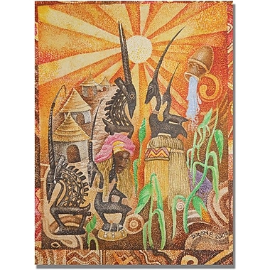 Trademark Global Djibrirou Kane in.Chiwara Headdessesin. Canvas Art, 24in. x 18in.