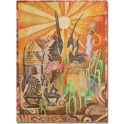 "Trademark Global Djibrirou Kane ""Chiwara Headdesses"" Canvas Arts"
