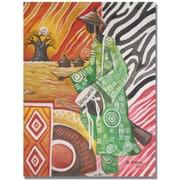"Trademark Global Djibrirou Kane ""Drum Player"" Canvas Arts"